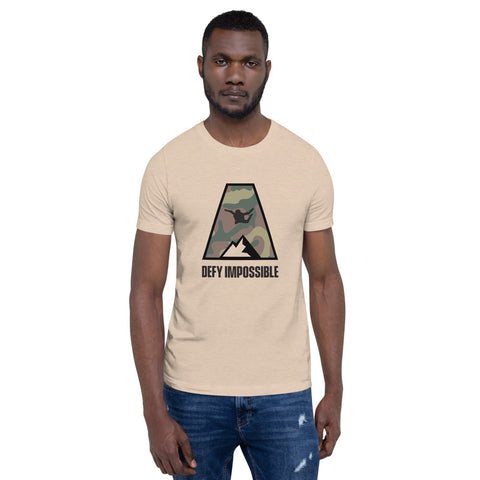 Defy Impossible Camo T-Shirt - Heather Dust