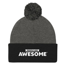 Load image into Gallery viewer, People Are Pom Pom Knit Cap (White Logo)