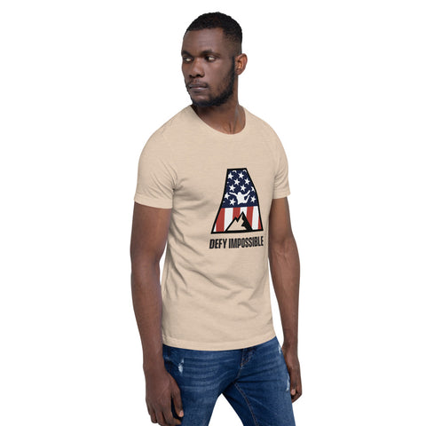 Defy Impossible Flag T-Shirt - Heather Dust