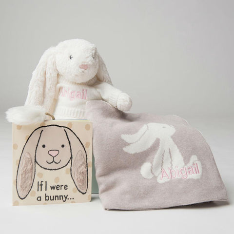 Bashful Bunny Blanket and Book Gift Set