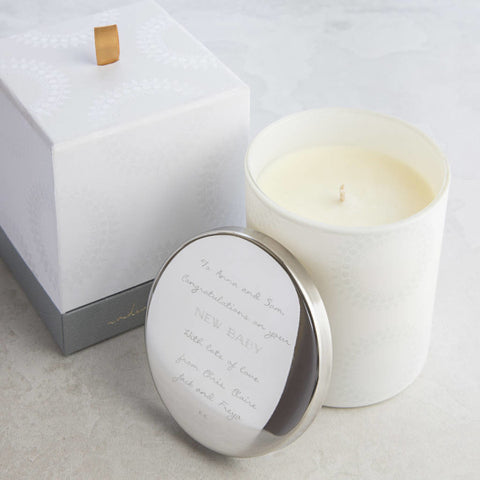 Personalised New Baby Candle