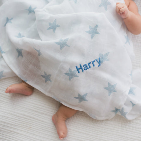 Personalised Muslin Swaddle Blanket