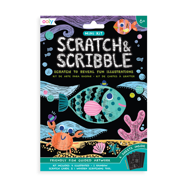 Mini Scratch & Scribble Art Kit (Friendly Fish) - Lovingly Signed