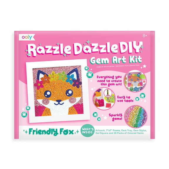 Razzle Dazzle Gem Art Kit (Friendly Fox) - Lovingly Signed
