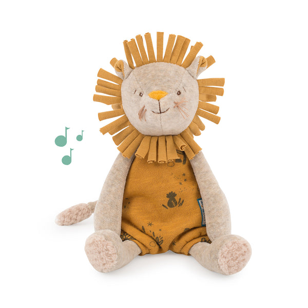 Sous Mon Baobab Paprika Lion Musical Pull-String - Lovingly Signed - Singapore