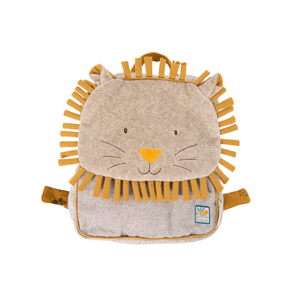 Sous Mon Baobab Paprika Lion Child Backpack - Lovingly Signed - Singapore