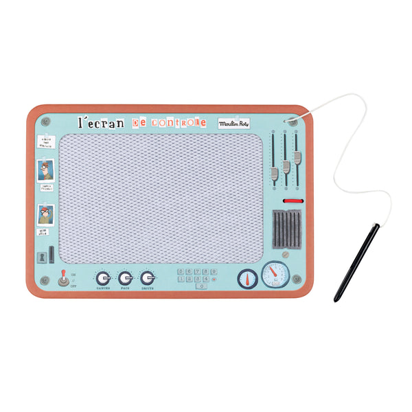 Les Petites Mervellies Magnetic Erasable Drawing Screen with Stylus - Lovingly Signed - Singapore