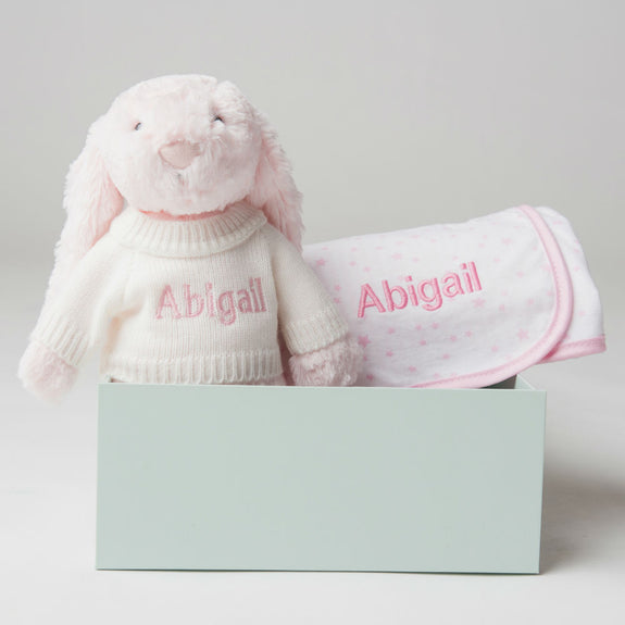 Personalised Bed Time Gift Set - Pink - Lovingly Signed