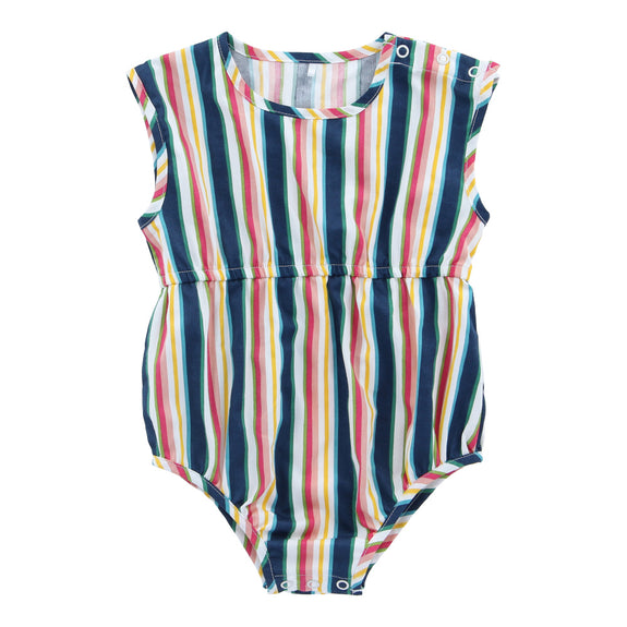 Organic Cotton Short Playsuit - Helter Skelter - Lovingly Signed - Singapore