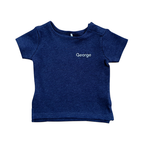 Personalised Organic T-Shirt - Navy - Lovingly Signed - SG