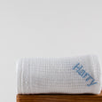 Personalised Soft Cellular Cotton Blanket  - White - Lovingly Signed