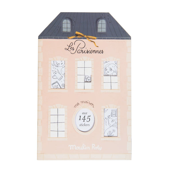Les Parisiennes Parisian Colouring Book with 145 Stickers 20 Pages