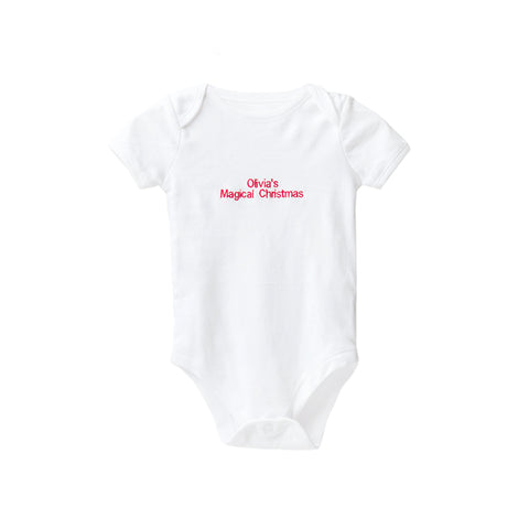Personalised Magical Christmas Baby Grow - Unisex