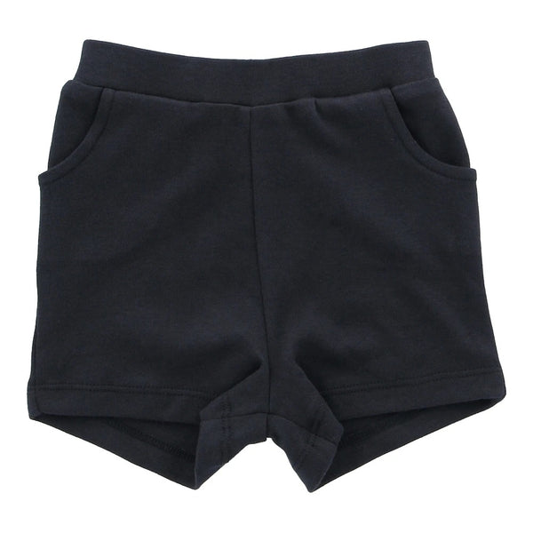 Organic Cotton Shorts - Soft Black - Lovingly Signed - Singapore