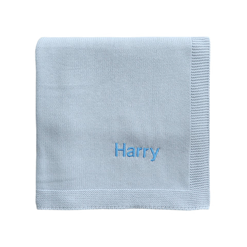 Personalised Baby Shawl - Blue