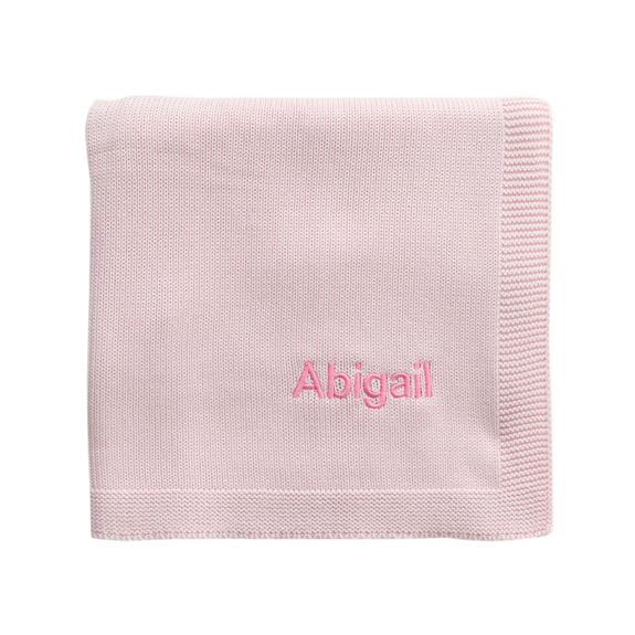 Personalised Baby Shawl - Pink