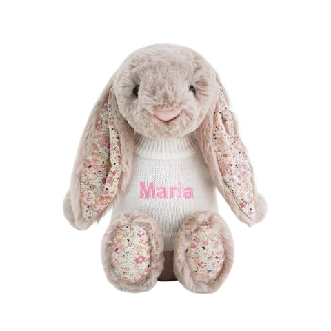 Personalised Blossom Bea Beige Bunny