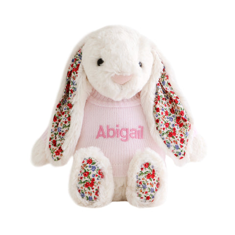 Personalised Blossom Cream Bunny