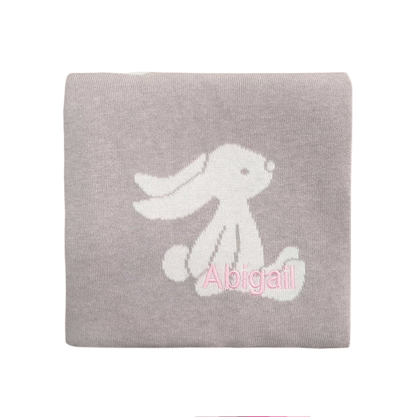 Personalised Bashful Beige Bunny Blanket - Lovingly Signed - SG