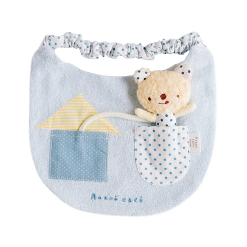 Bib With Toy (Blue)