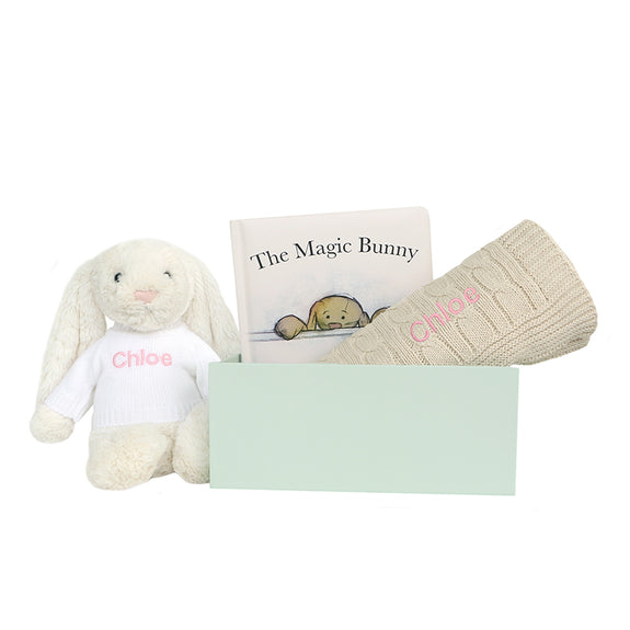Personalised Magic Bunny Gift Set - Beige -Lovingly Signed - Singapore