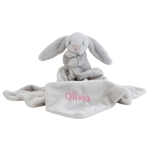 Personalised Bunny Comforter - Grey