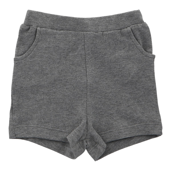 Organic Cotton Shorts - Grey Marl - Lovingly Signed - Singapore