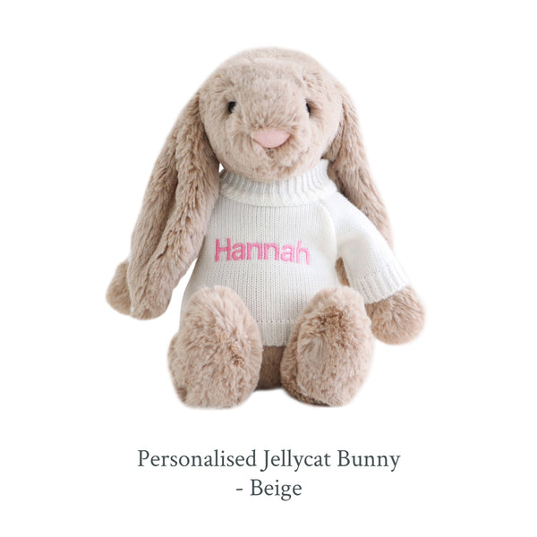 Personalised Jellycat Bunny - Beige - Lovingly Signed - SG