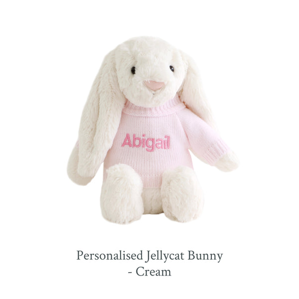 Personalised Jellycat Bunny - Cream - Lovingly Signed - SG