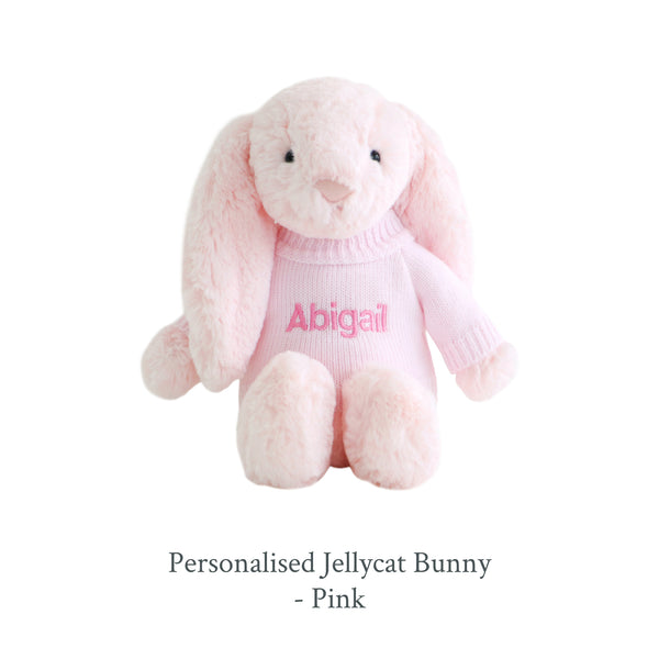 Personalised Jellycat Bunny - Pink - Lovingly Signed - SG