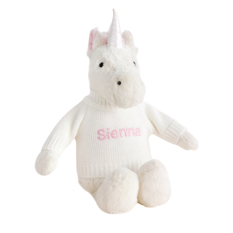 Personalised Bashful Unicorn