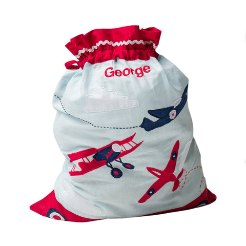 Personalised Vintage Plane Laundry Bag