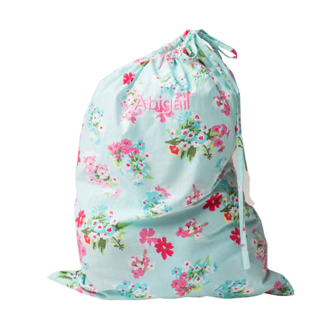 Personalised Floral Laundry Bag