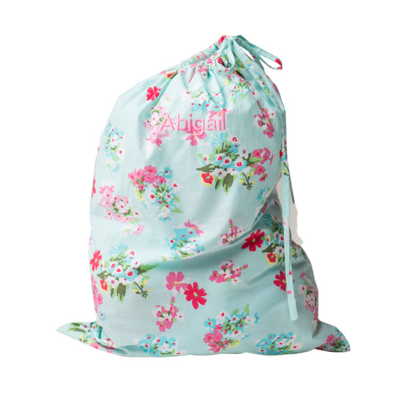 Personalised Floral Laundry Bag - Lovingly Signed - SG