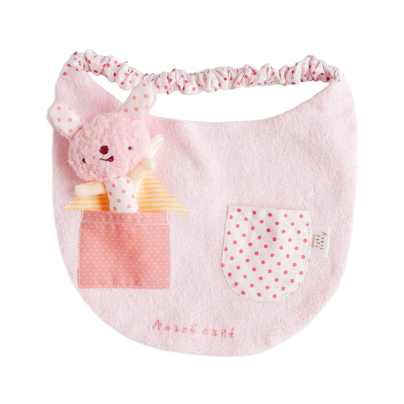 Bib With Toy (Pink)