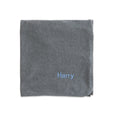 Personalised Organic Baby Blanket - Grey Marl - Lovingly Signed - SG