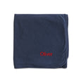 Personalised Organic Baby Blanket - Navy - Lovingly Signed - SG