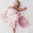 Personalised Luxury Baby Cable Knit Blanket - Pale Pink - Lovingly Signed