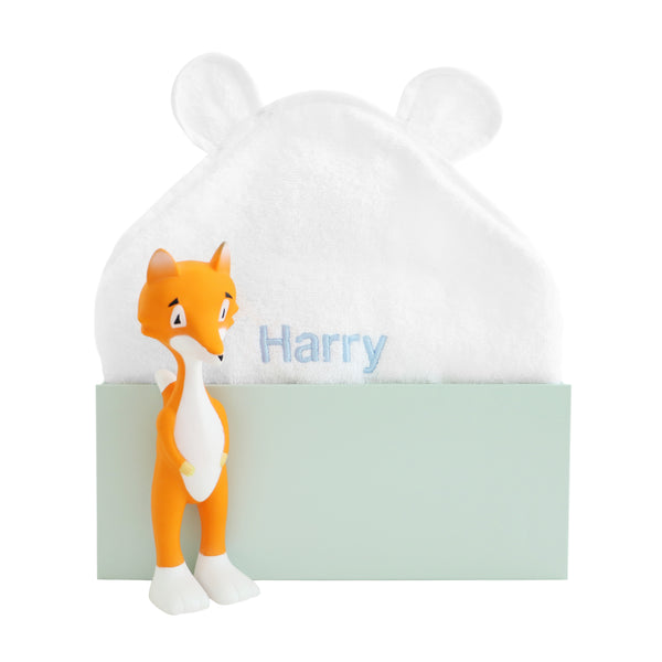 Personalised Ethan the Fox Bathtime Set