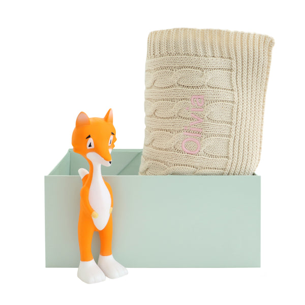 Personalised Cable and Ethan The Fox Set - Cream