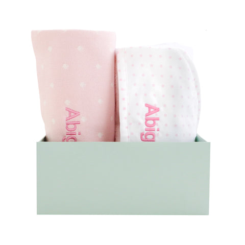 Personalised Polka Dot Essential Set - Pink