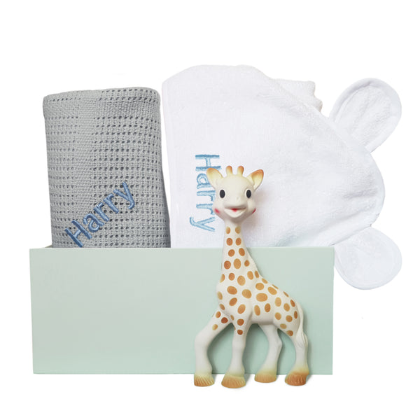 Personalised Sophie Snuggles Gift Set - Grey