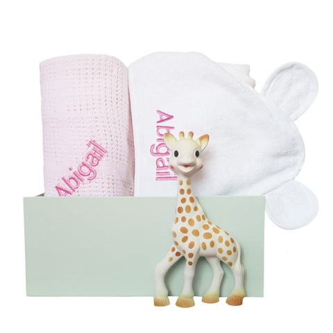 Personalised Sophie Snuggles Gift Set - Pink