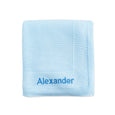 Personalised New Baby Receiving Shawl - Blue