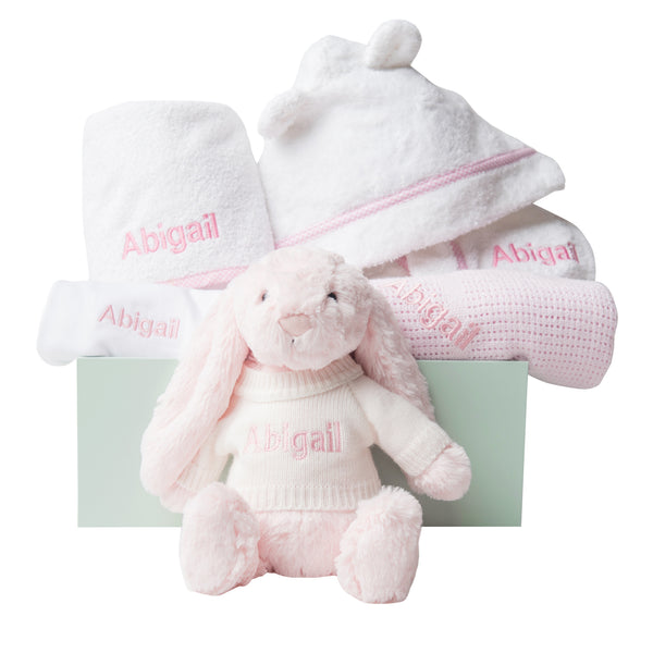 Super Luxe Baby Gift Set - Pink - Lovingly Signed - SG