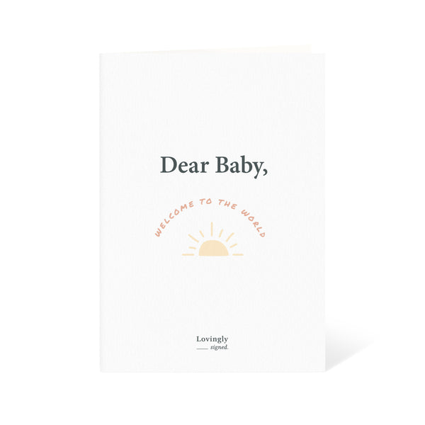 Welcome To The World! Newborn Baby Congratulations Card