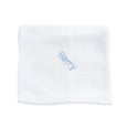 Personalised Soft Cellular Cotton Blanket - Bright White - Lovingly Signed - SG