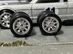 Custom Hot Wheels Wheels and Matchbox Rubber Tires and Chrome BBS Race Wheels