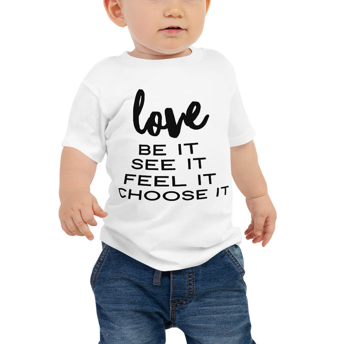 Love (black) Baby Jersey Short Sleeve Tee