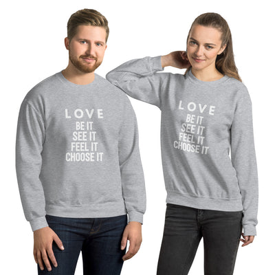Love (white) Sweatshirt